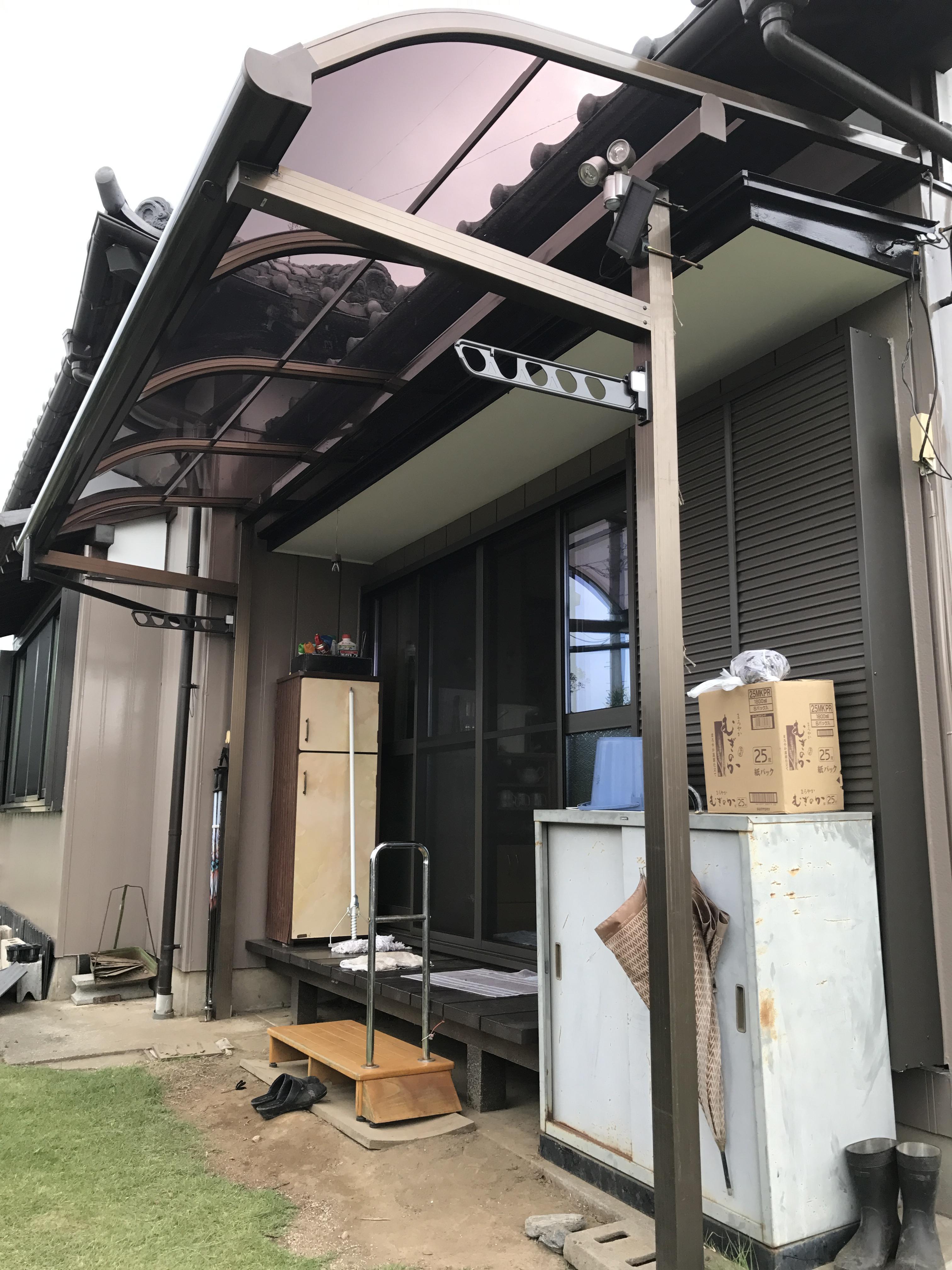 雨の吹込み防止 テラス屋根リフォーム