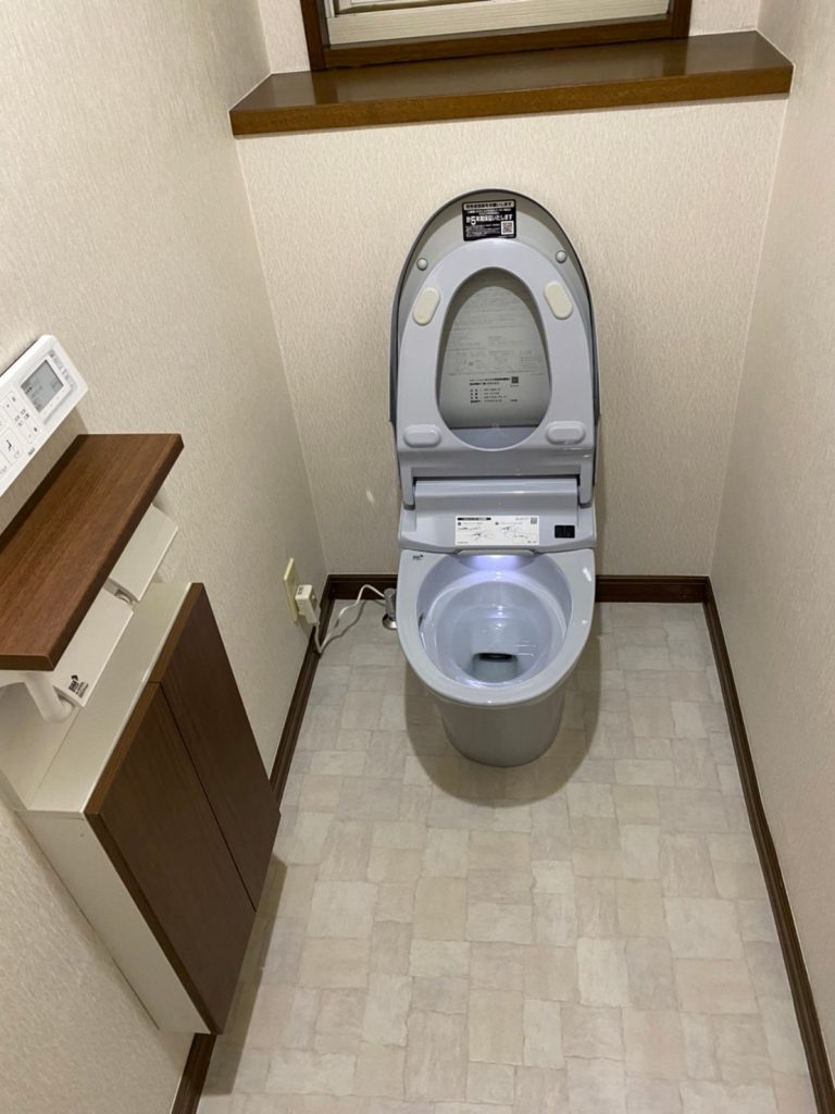 交換は壊れる前に『トイレ改装工事』