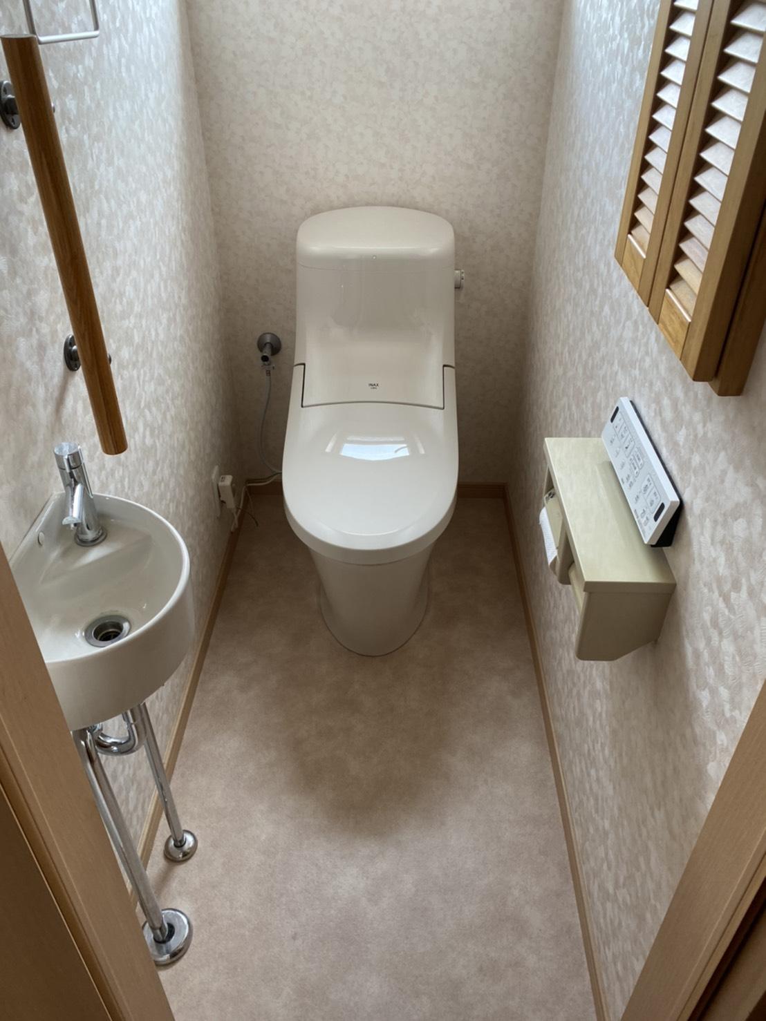 新しくなるとスッキリ見えます 『トイレ改修工事』
